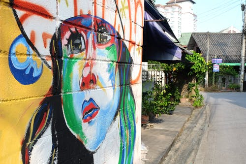 Základová fotografie zdarma na téma Čiang Mai, graffiti, pouliční umění, Thajsko