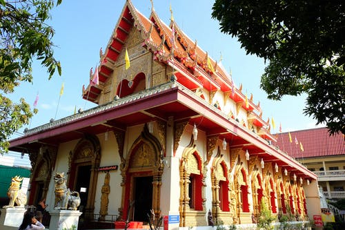 Free stock photo of chiang mai, gold, red, temple