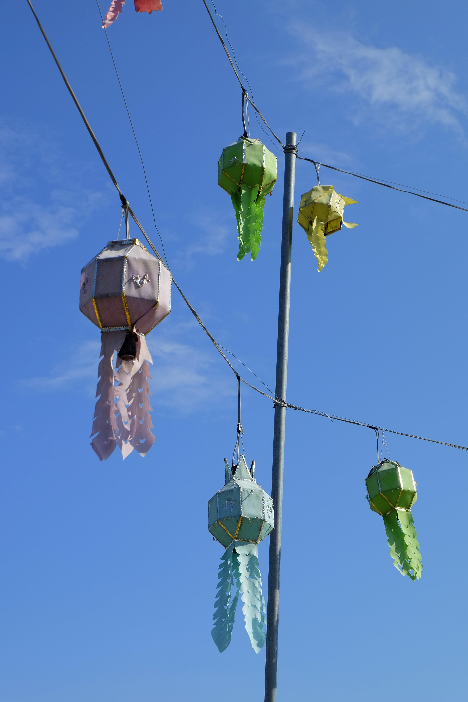 Free stock photo of blue sky, lantern, temple, thailand