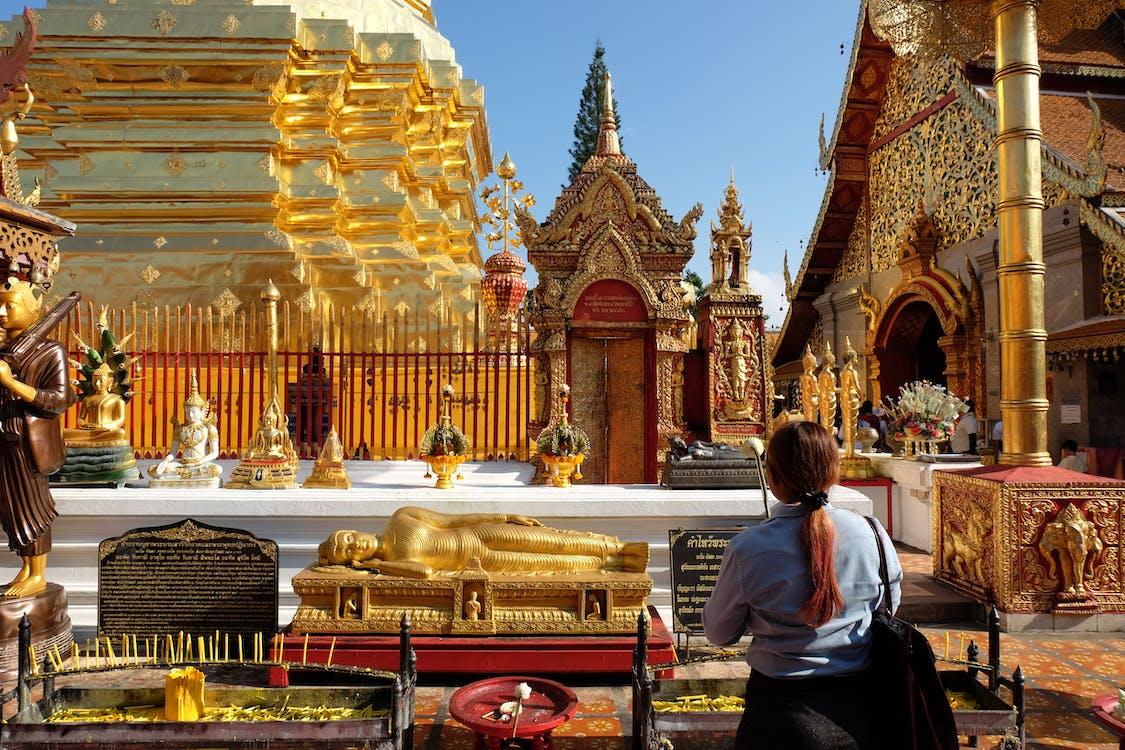 Free stock photo of chiang mai, doi suthep, gold