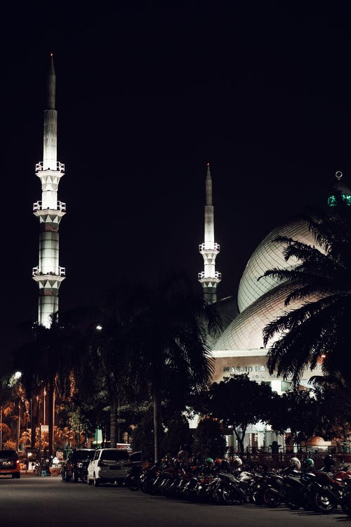 Minarets Lit Up at Night