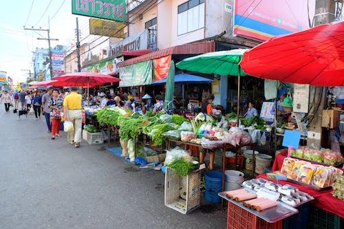 Ilmainen kuvapankkikuva tunnisteilla katu, marketti, ruoka, thaimaa