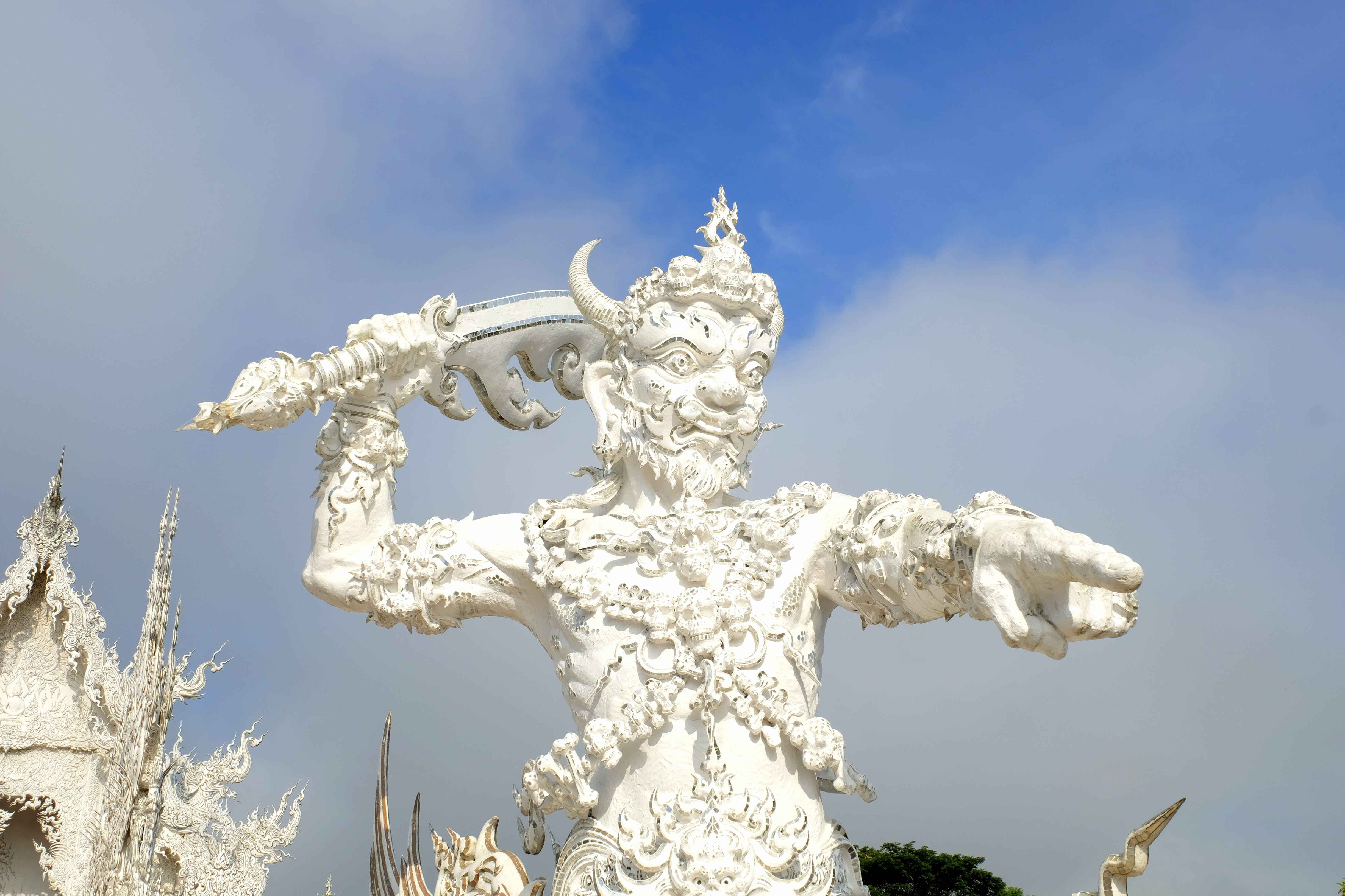 Free stock photo of chiang rai, statue, thailand, white temple