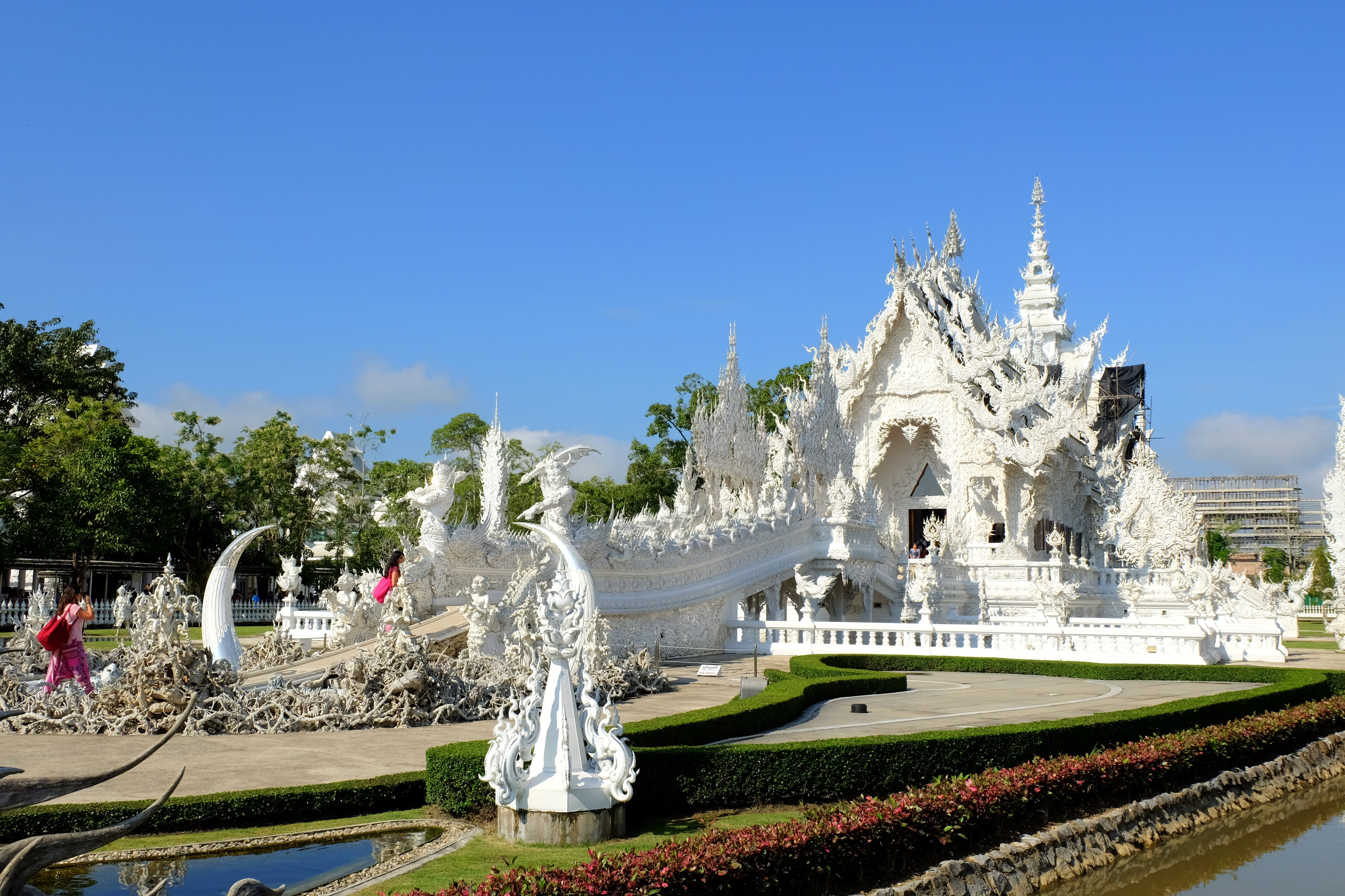 Free stock photo of temple, thailand, white temple, chiang rai