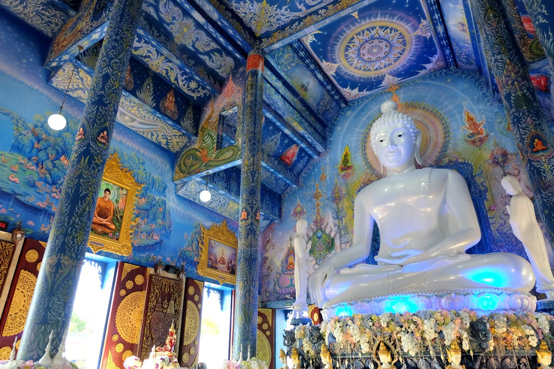 bílá, buddha, buddhismus