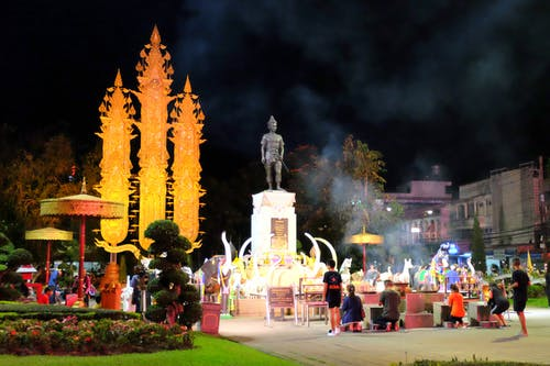 Free stock photo of chiang rai, gold, king mengrai monument, monument