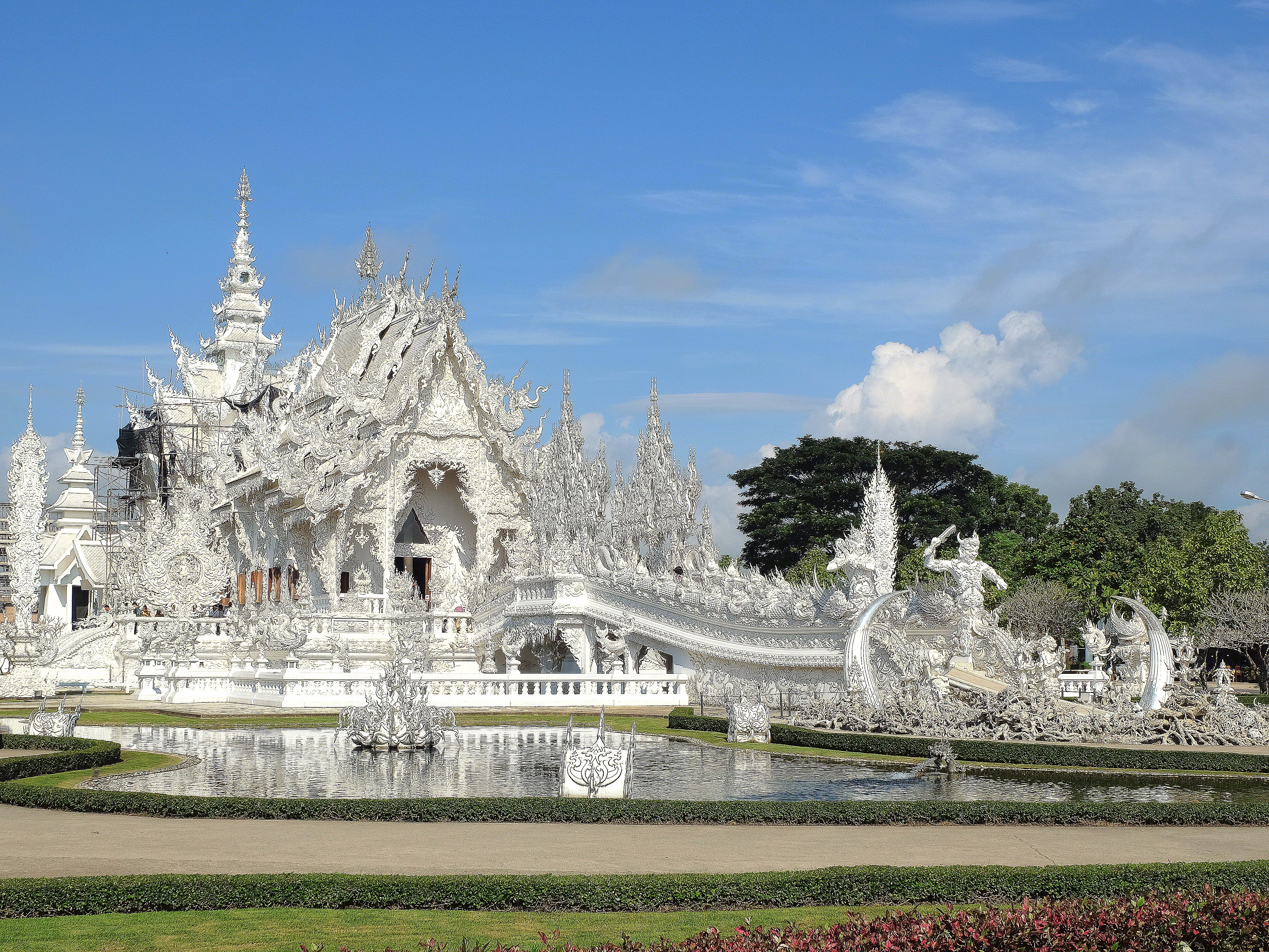 Free stock photo of chiang rai, temple, thailand, white temple