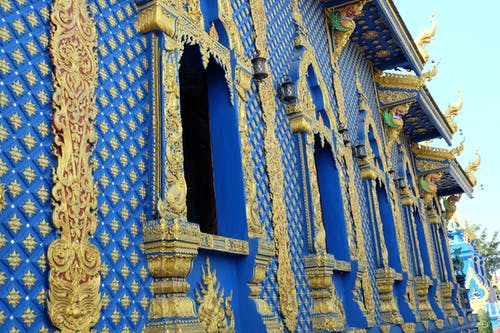 Free stock photo of blue, chiang rai, gold, temple