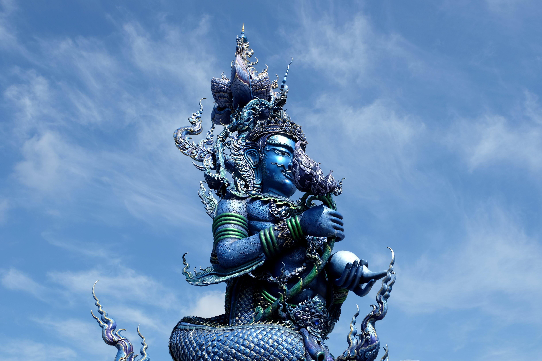 Gratis stockfoto met blauw, blauwe tempel, chiang rai, standbeeld