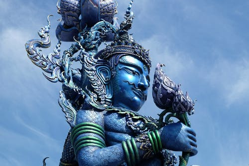 Free stock photo of blue, blue temple, chiang rai, statue