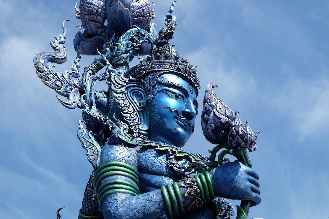blue, blue temple, chiang rai