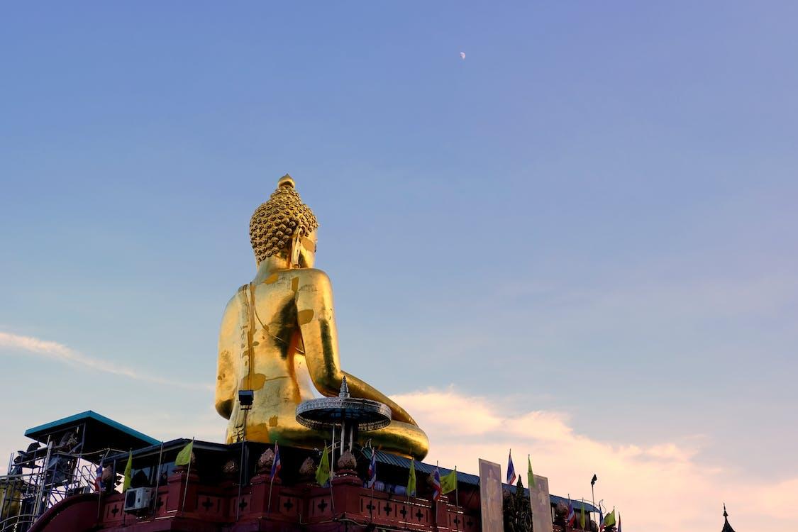 buddha, colorful, gold