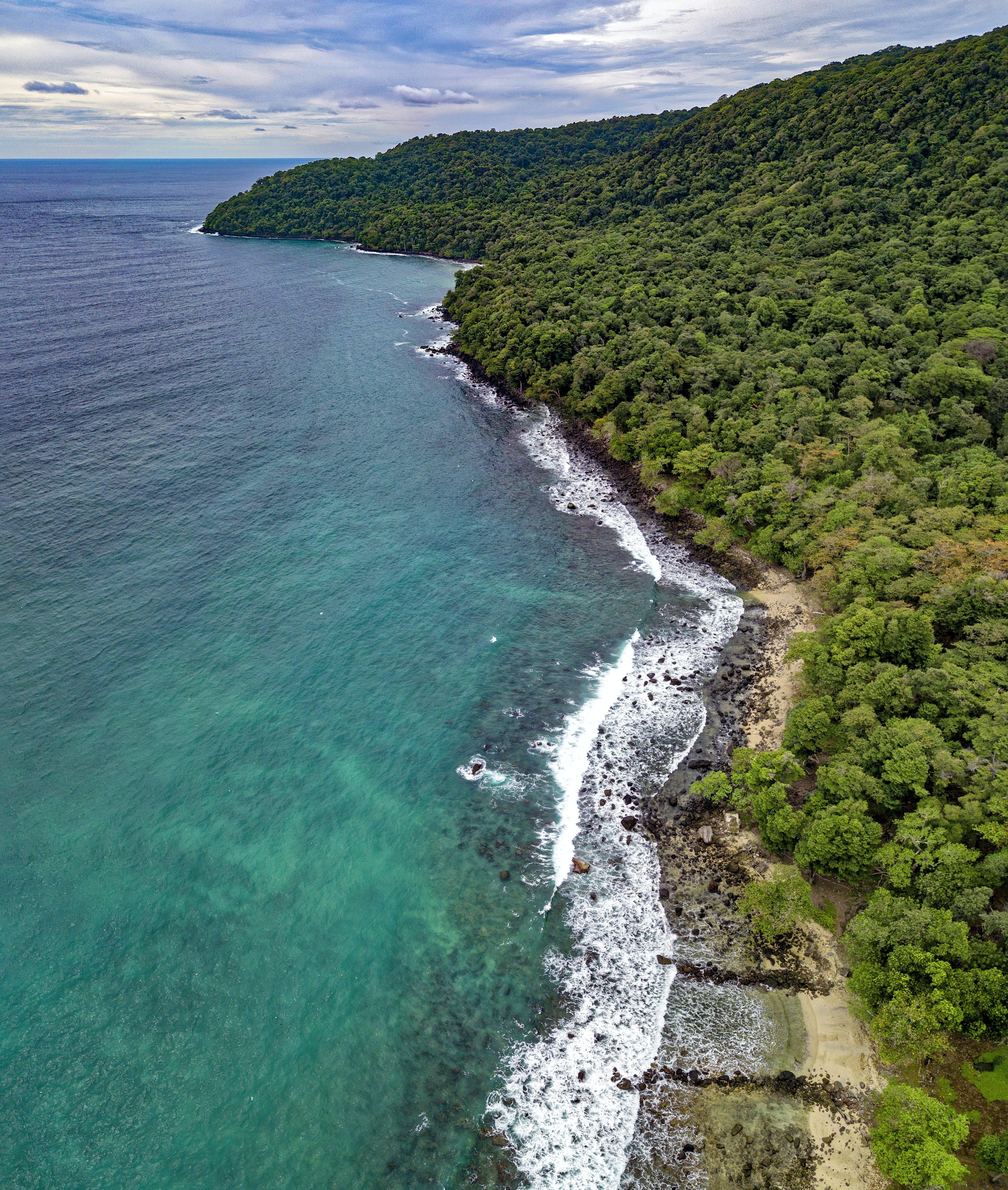 Δωρεάν στοκ φωτογραφιών με αεροφωτογράφιση, ακτή, άμμος, βράχια