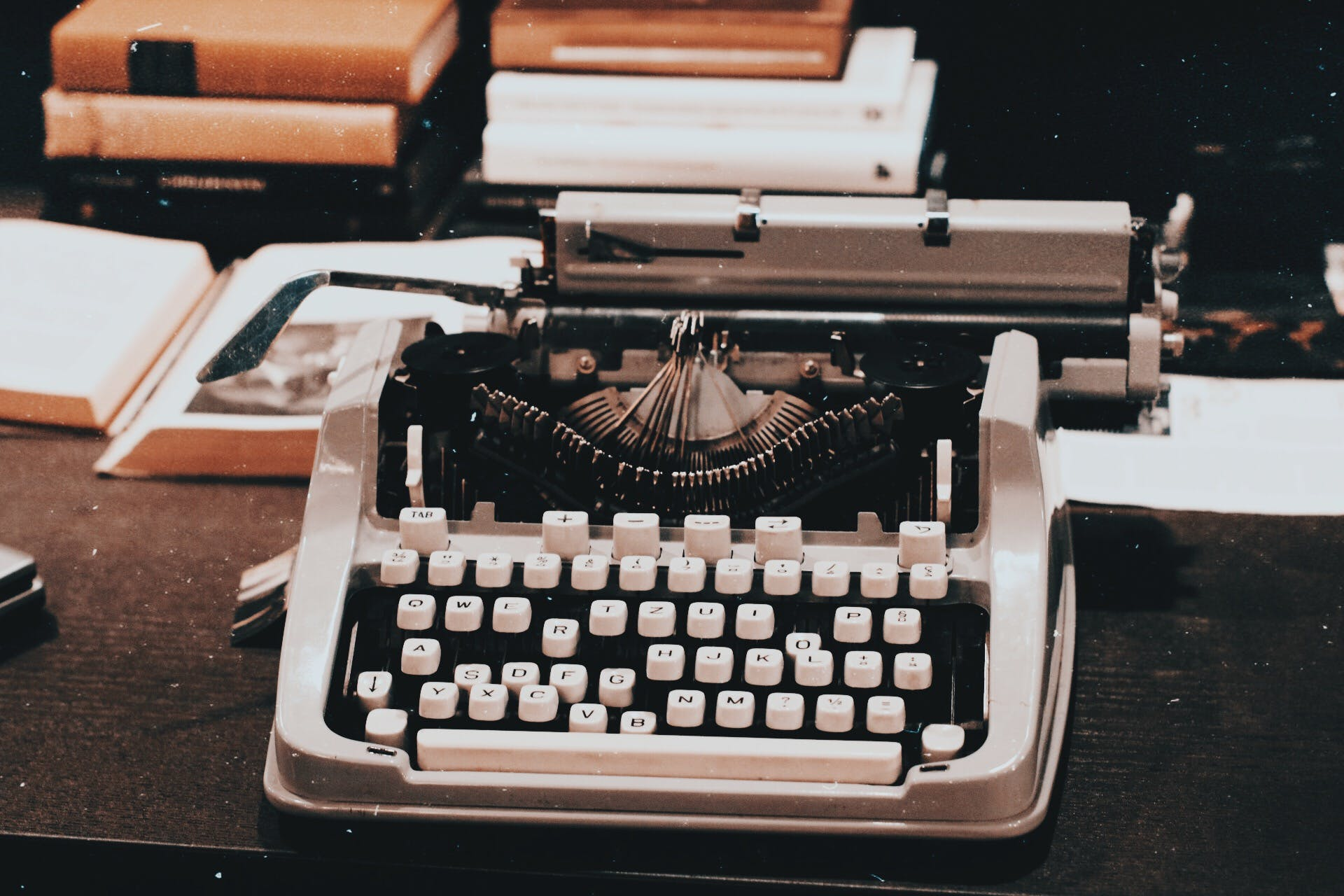 Photograph of a Vintage Typewriter on Table