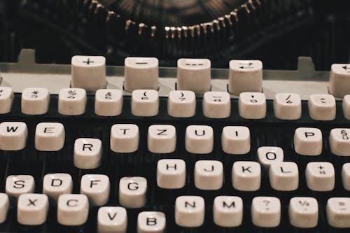 Ilmainen kuvapankkikuva tunnisteilla aakkoset, kirjoituskone, lähikuva