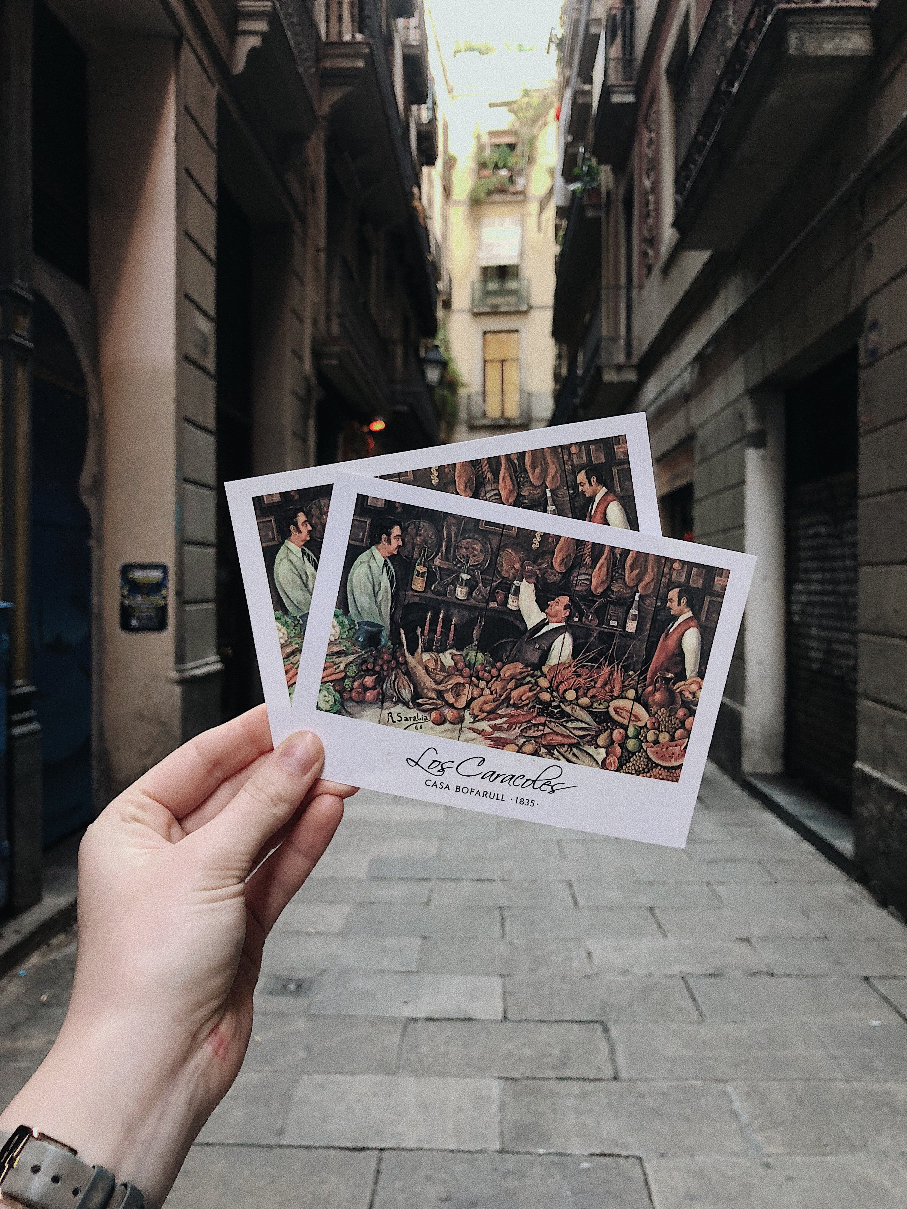 Photo of a Person Holding Postcards