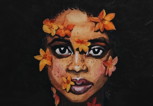 Fotos de stock gratuitas de cuadro, flores, negro, pintando