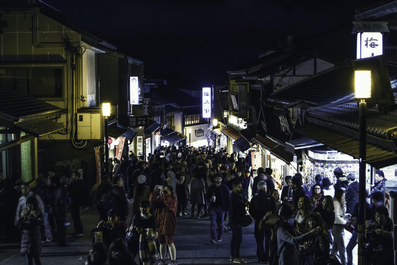 Free stock photo of japan, kiyomizudera, market, night city