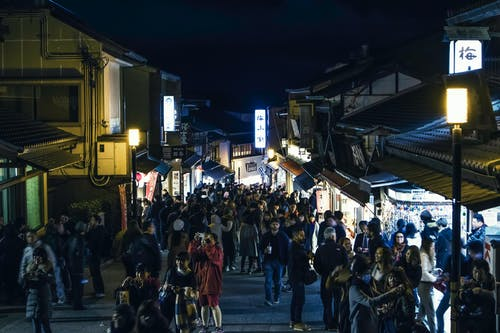 Free stock photo of japan, kiyomizudera, market, night city