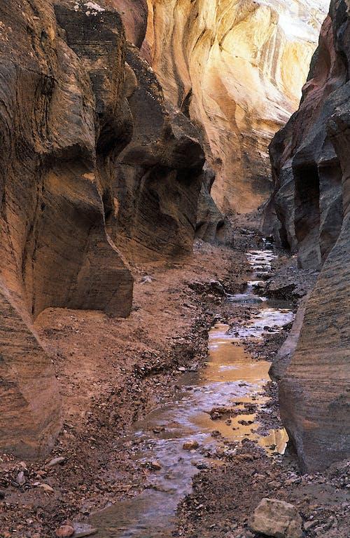 Fotos de stock gratuitas de acantilado, agua, arenisca, barranco