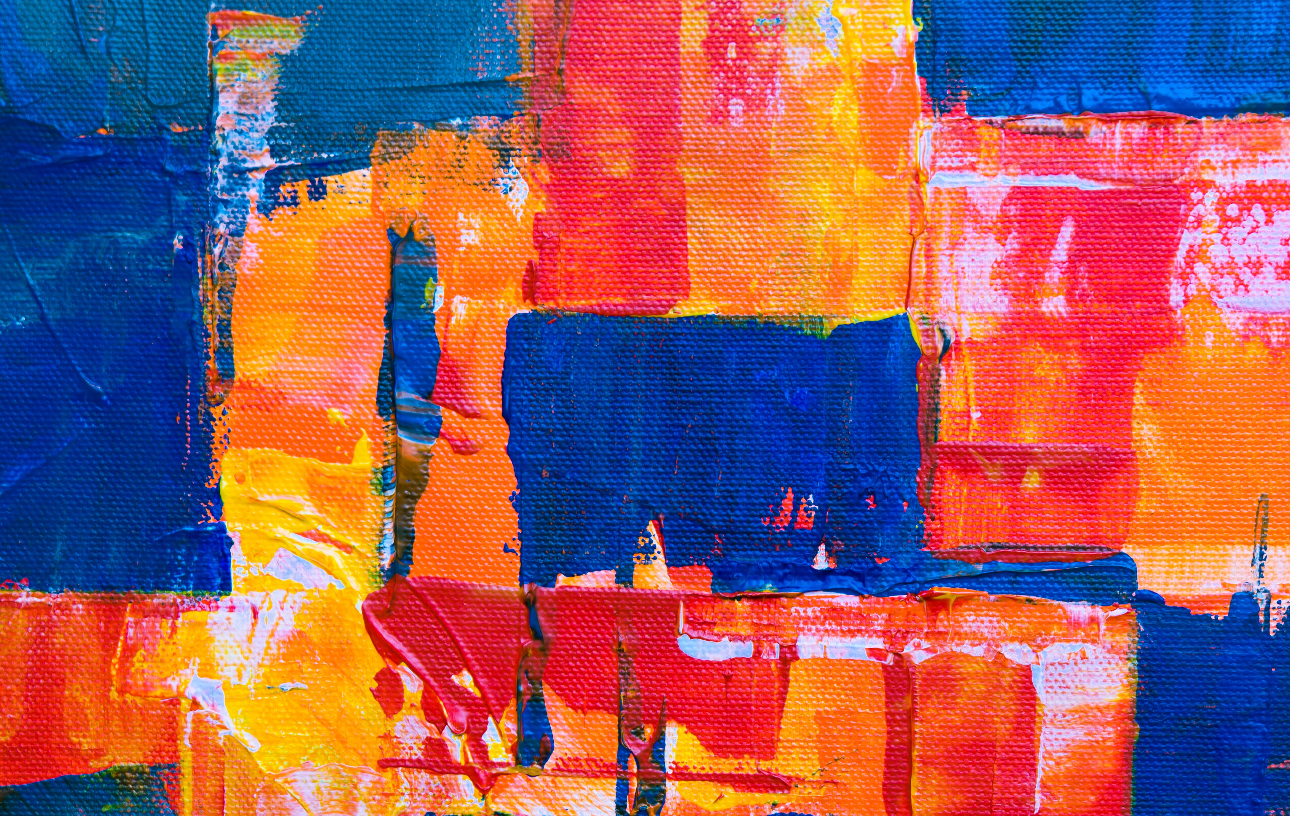 Photo of Abstract Painting with Vibrant Colors