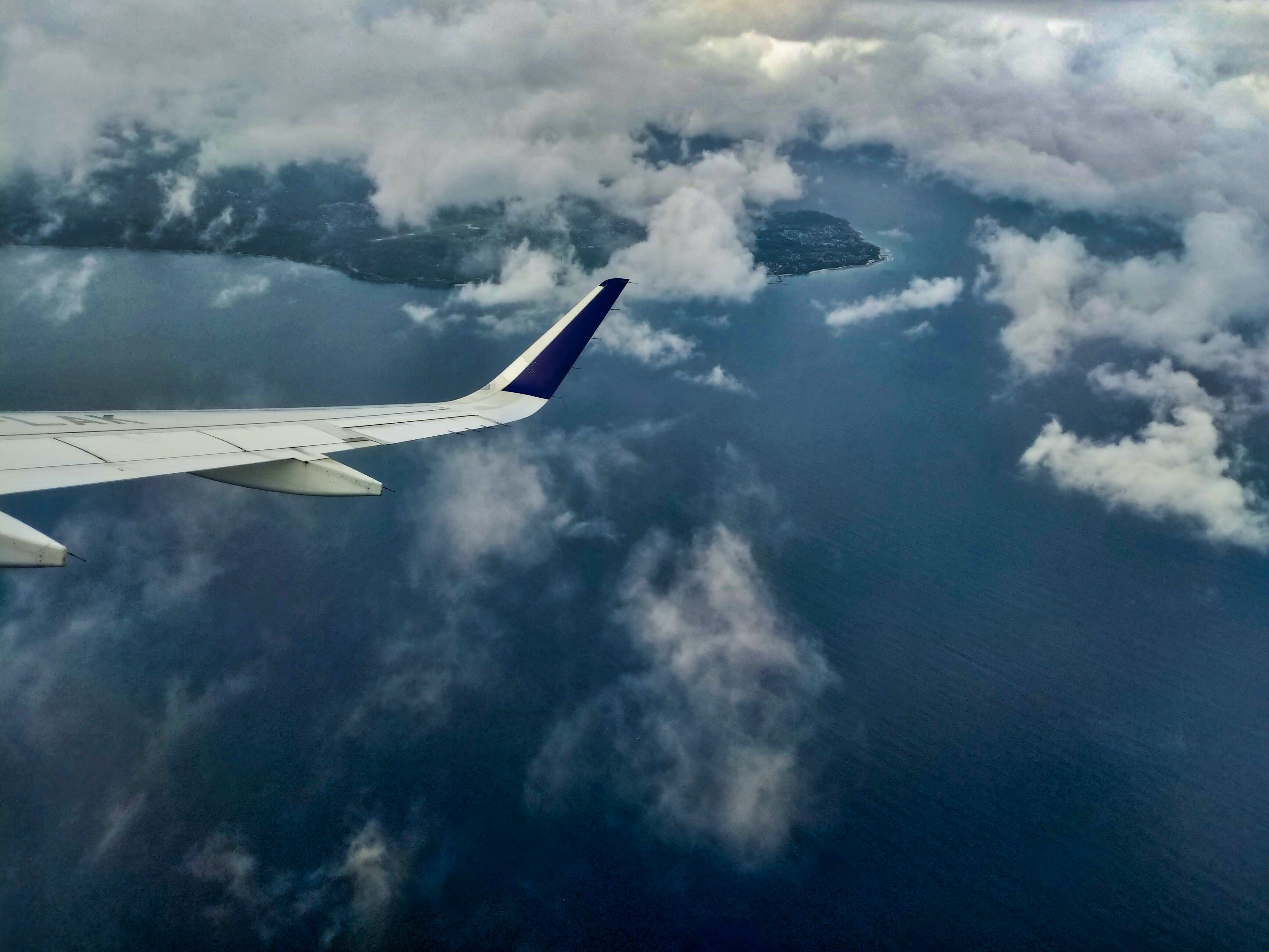 Aerial Photography Of Aircraft Wing