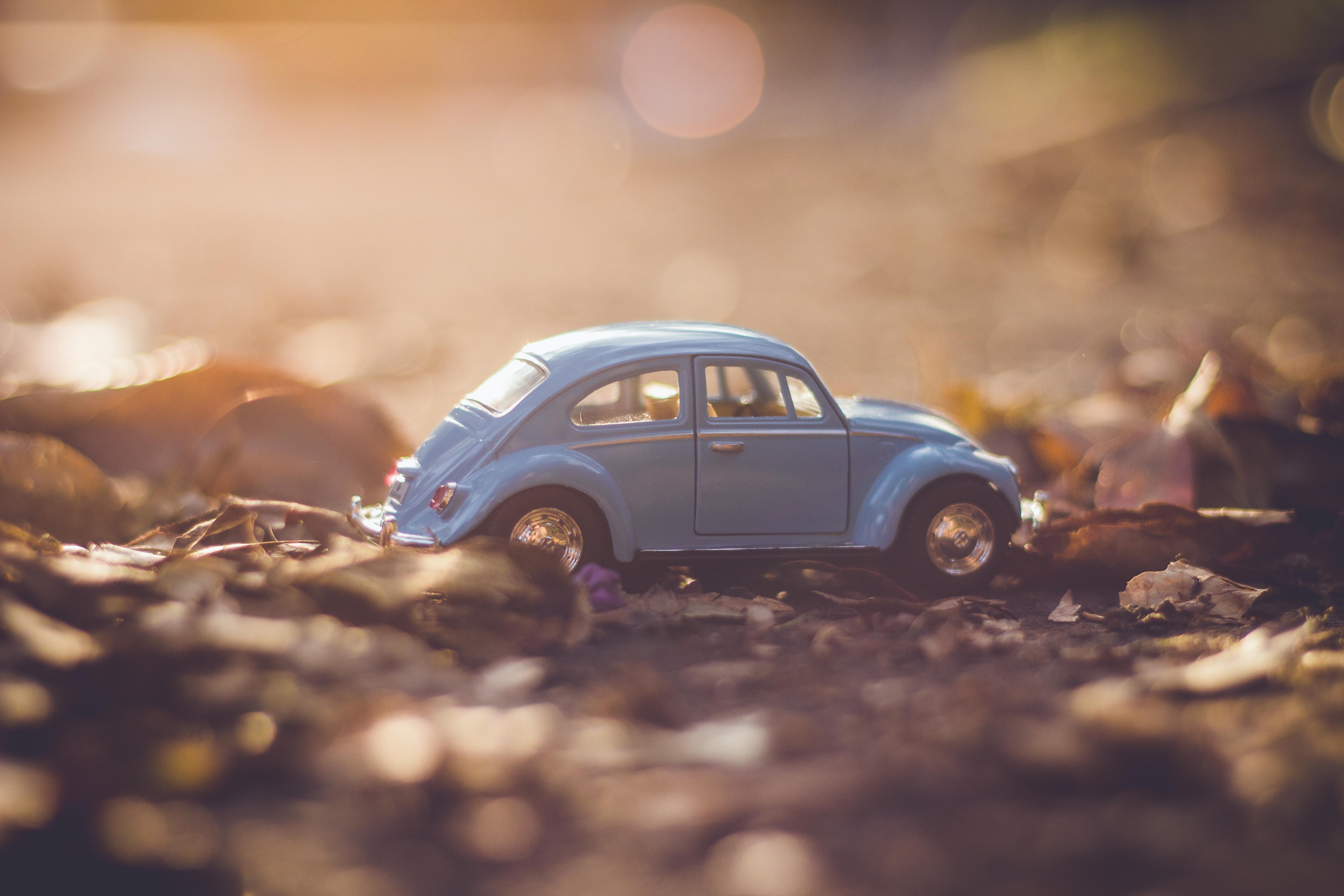 Blue Volkswagen Beetle Die-cast