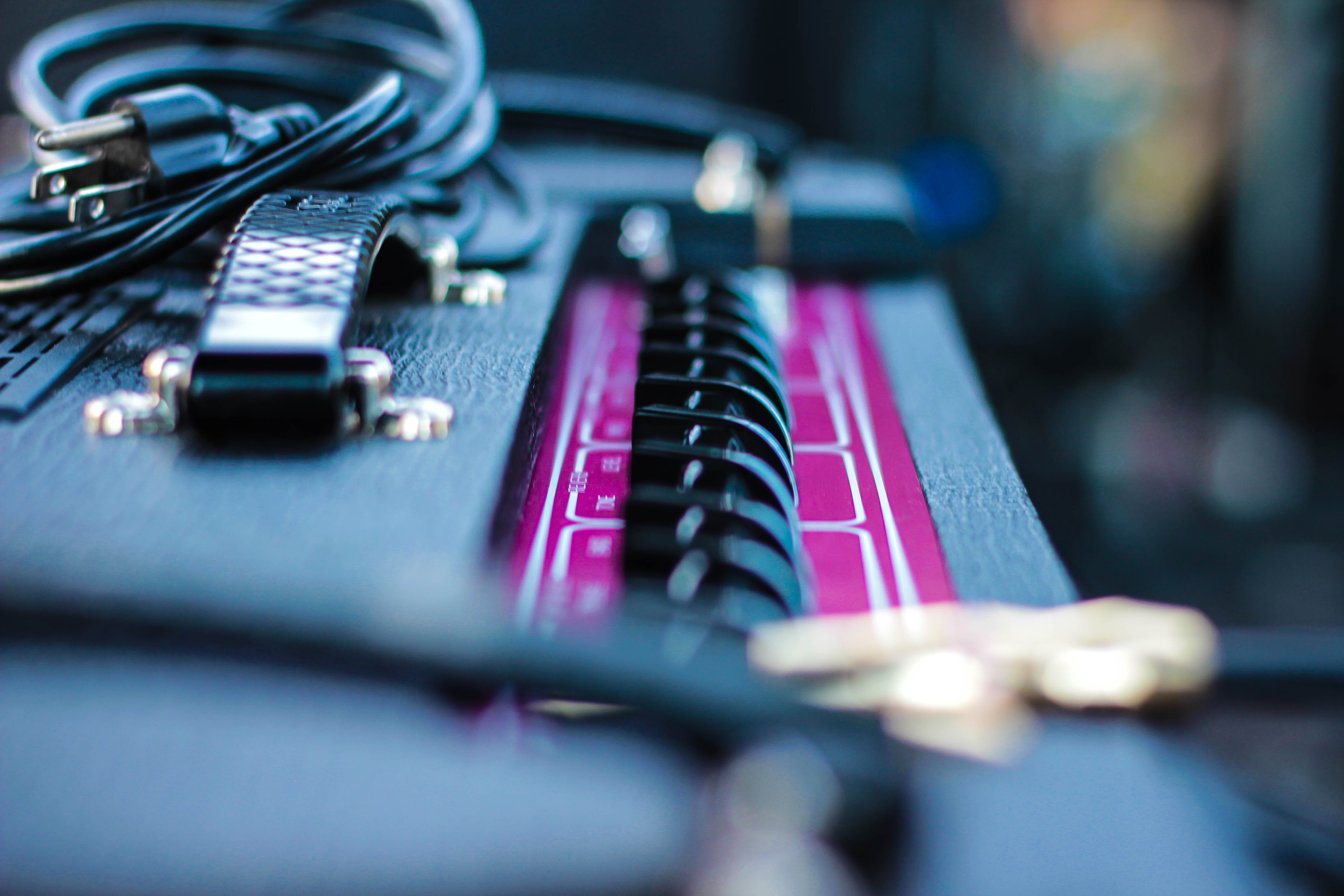 Selective Focus Photography of Amplifier