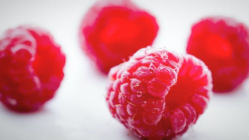 Selective Focus Photography of Rapsberries