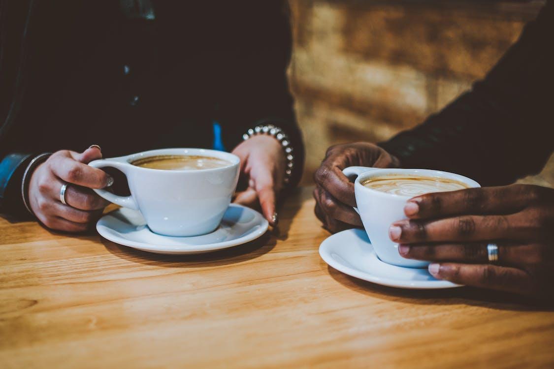 cafe, cappuccino, delikat