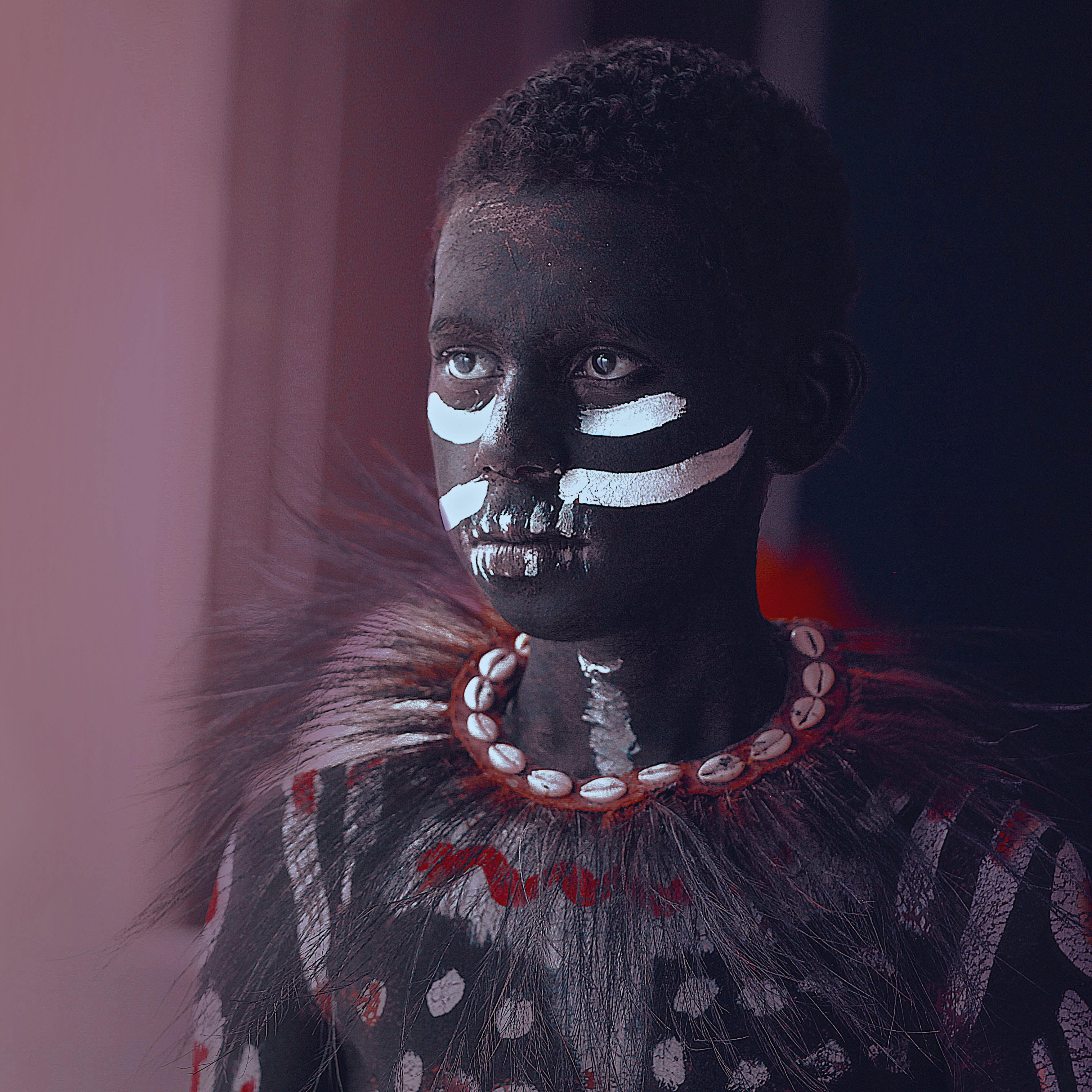 Boy in Traditional Mask