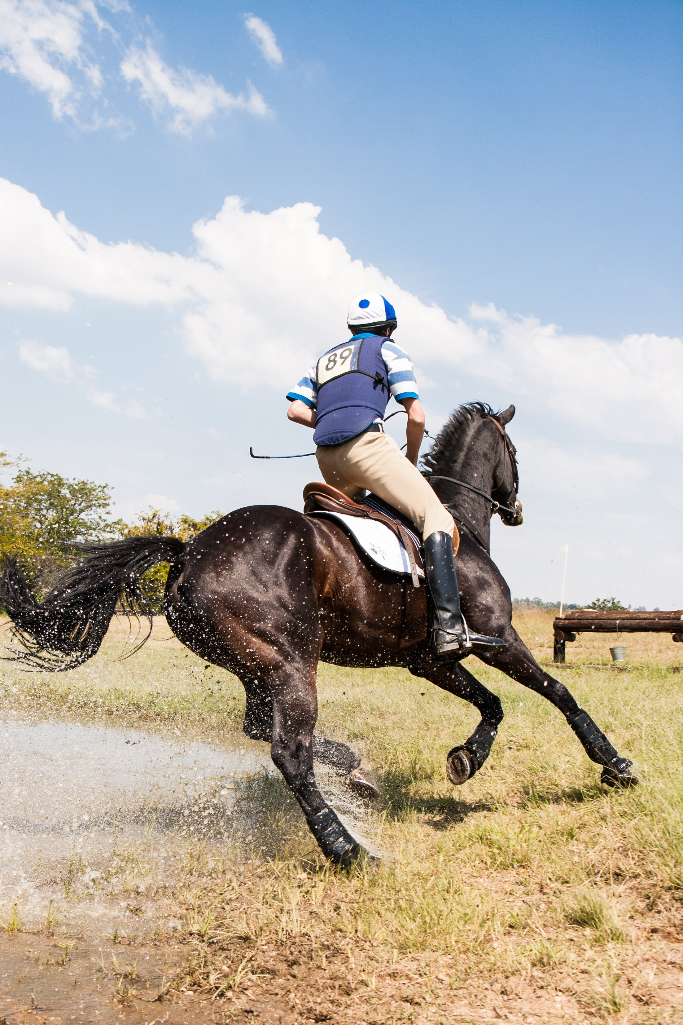 Person Horseback Riding Outdoors