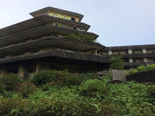 Photos gratuites de hôtel abandonné