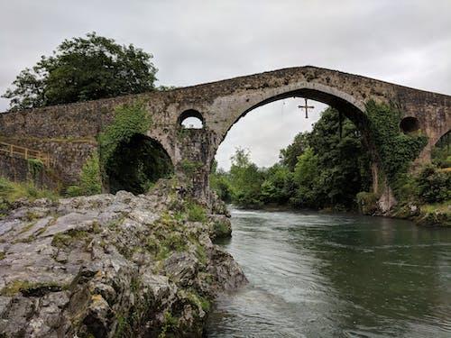 十字架, 城鎮, 橋, 歐洲 的 免费素材照片