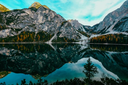 Reflection of Mountain on Lake Braies