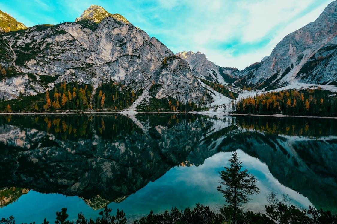 Reflection of Mountain on Lake Braies