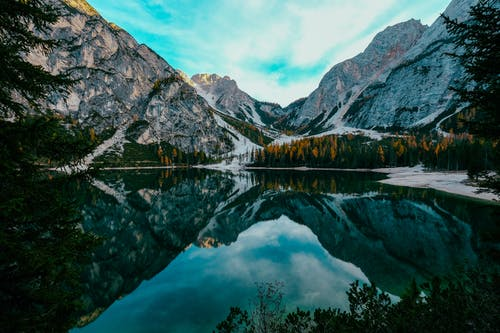 Photo of Beautiful Mountain Scenery Near Body of Water