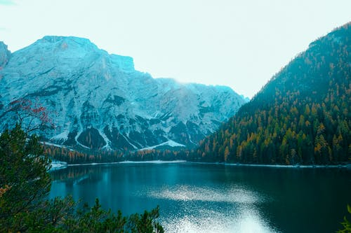 Lake Surrounded With Mountain