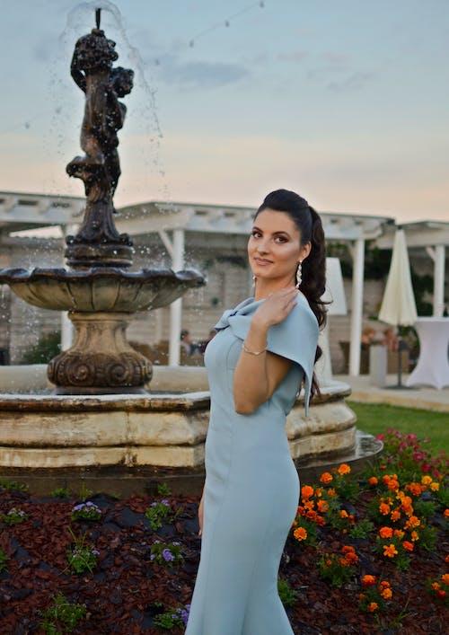 Free stock photo of beautiful, blue dress, celebration