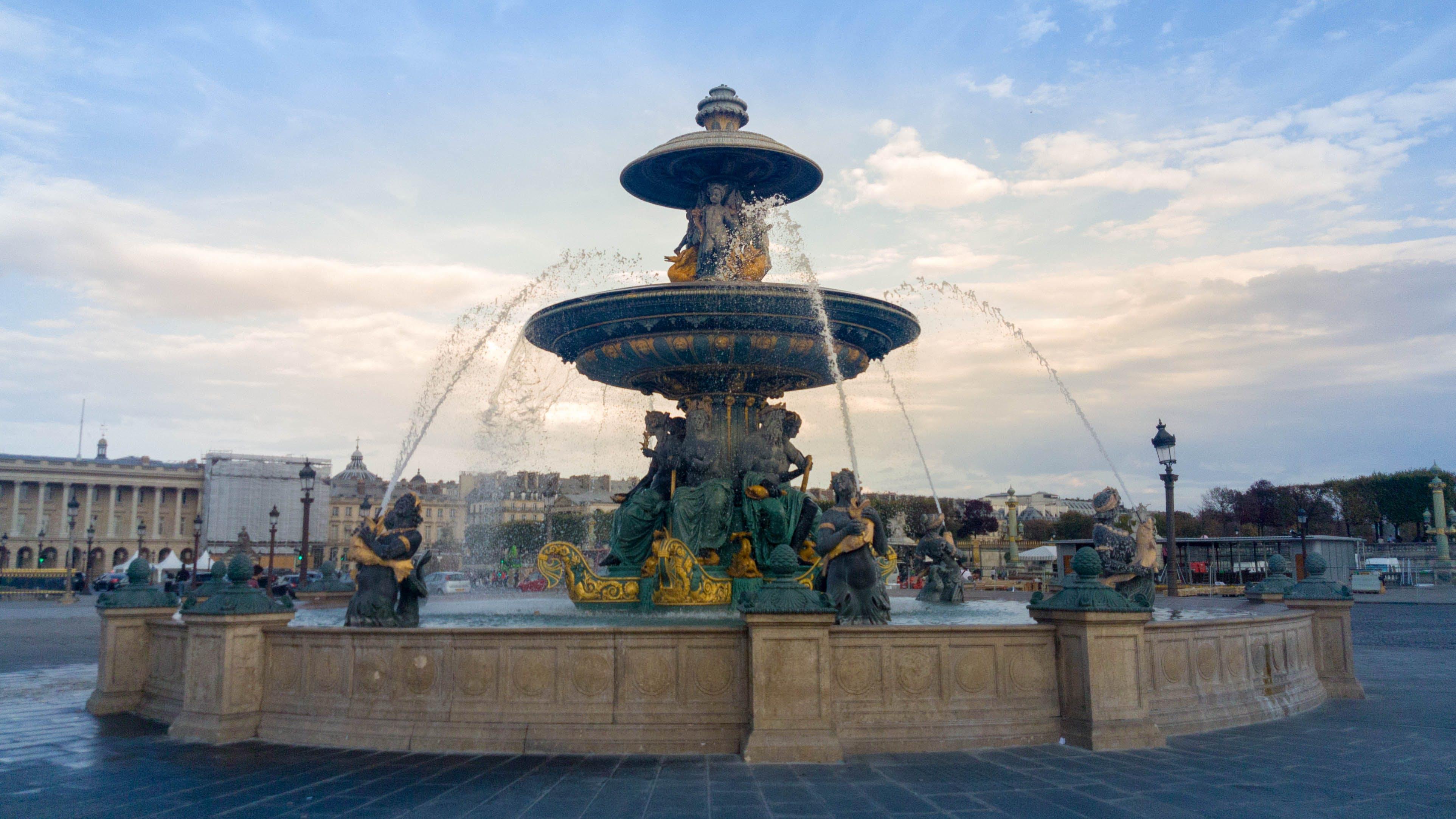 Photos gratuites de concorde, Fontaine à eau, paris