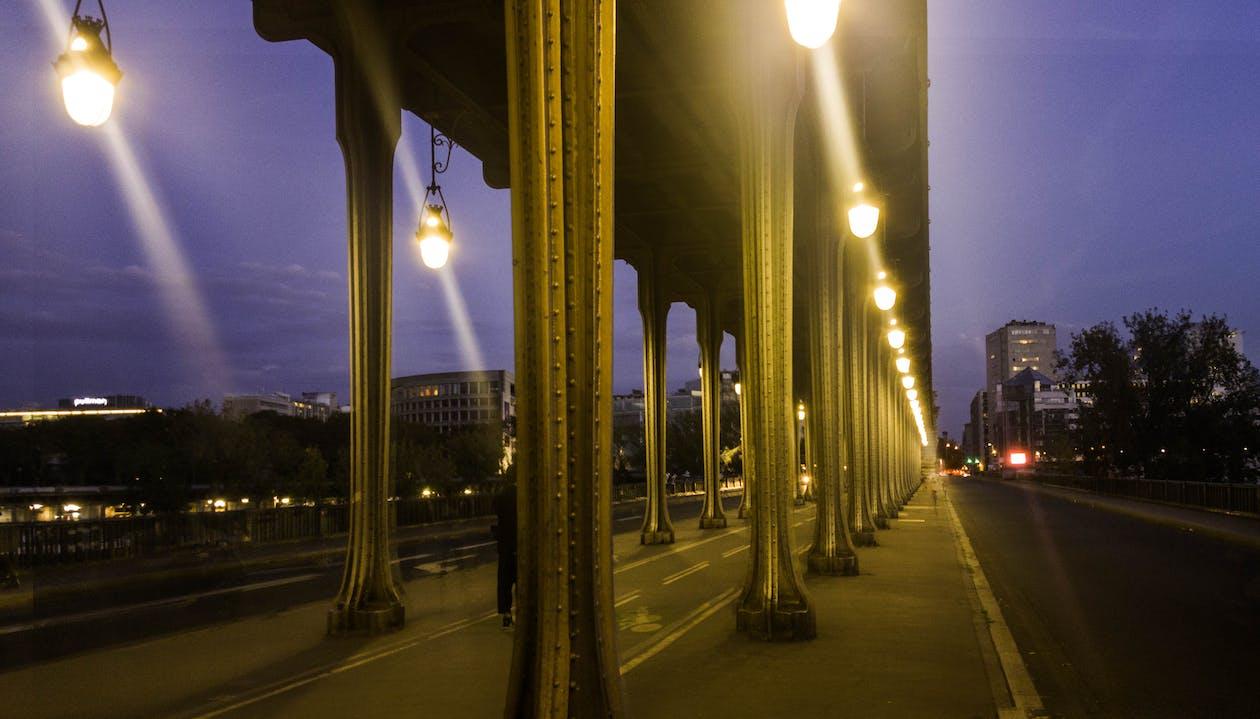 pariisi, silta, yö