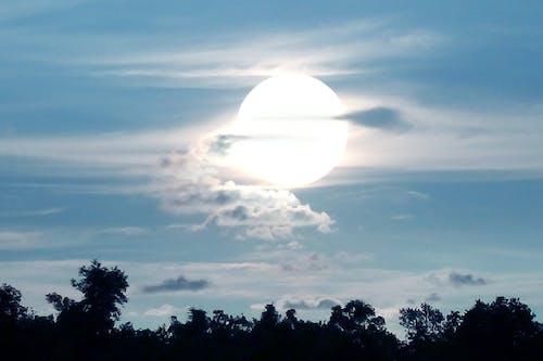 Kostnadsfri bild av blå himmel, cool bakgrundsbild, Sol, stor sol