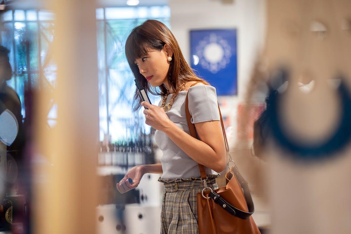 Woman Taking Selfie Indoors