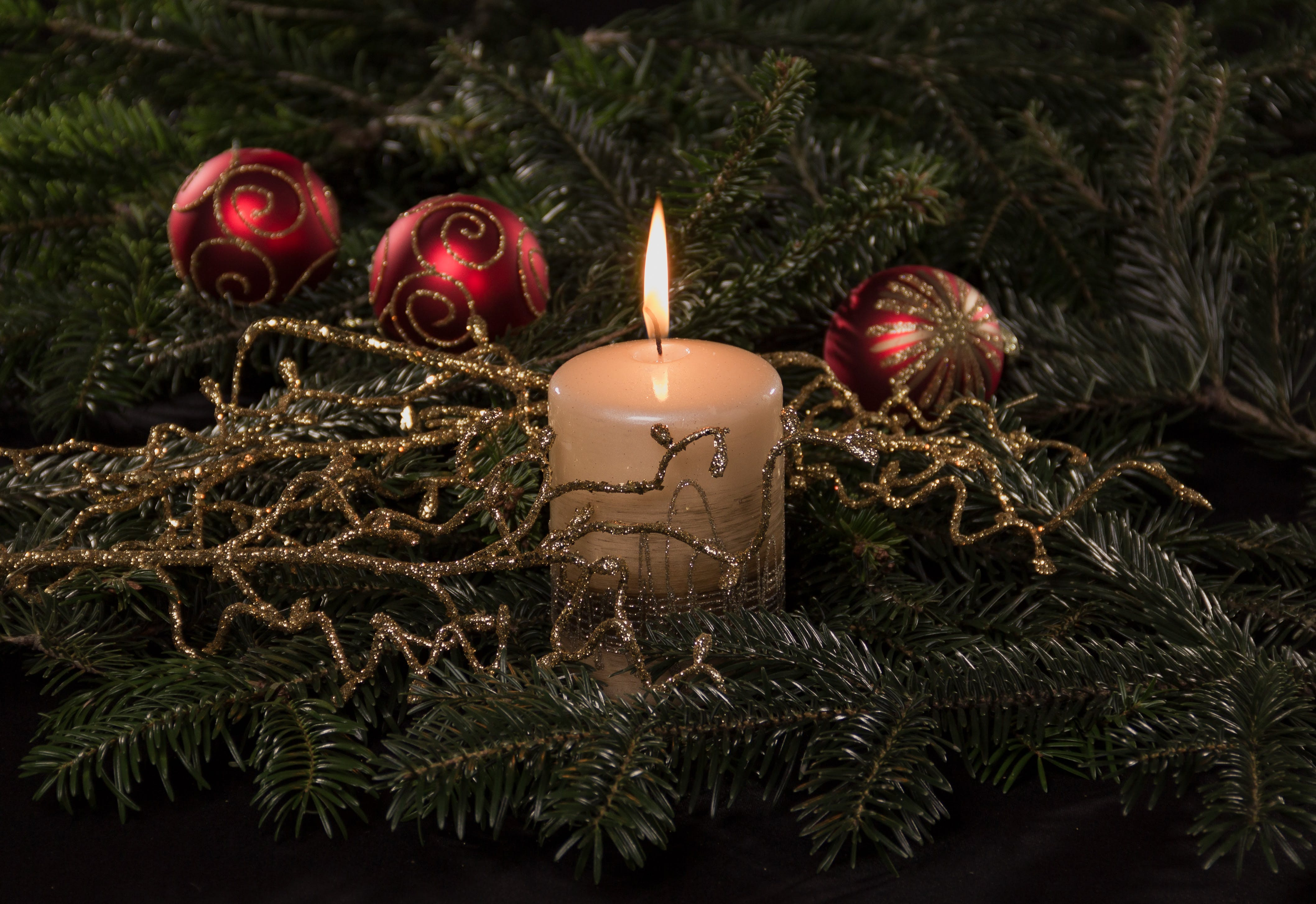 Free stock photo of candle, candlelight, christmas, decoration