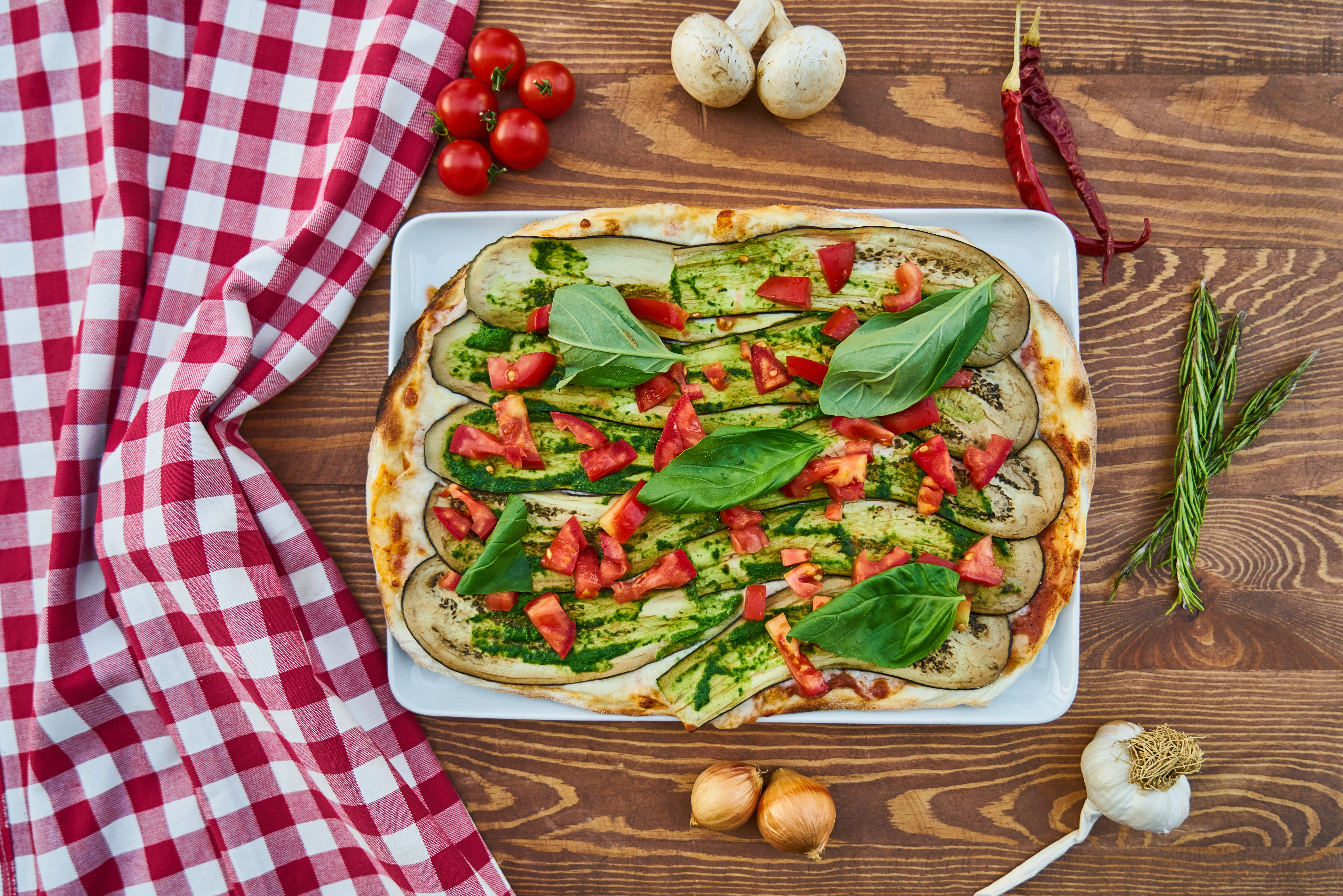 Pizza With Vegetables and Spices