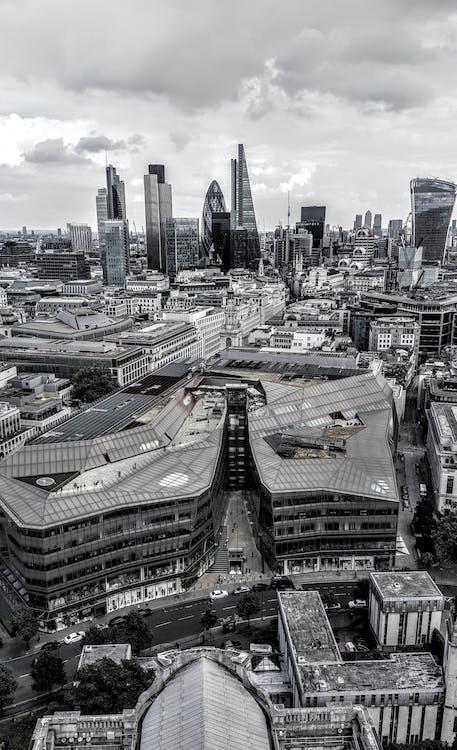 alto, arquitectura, calles