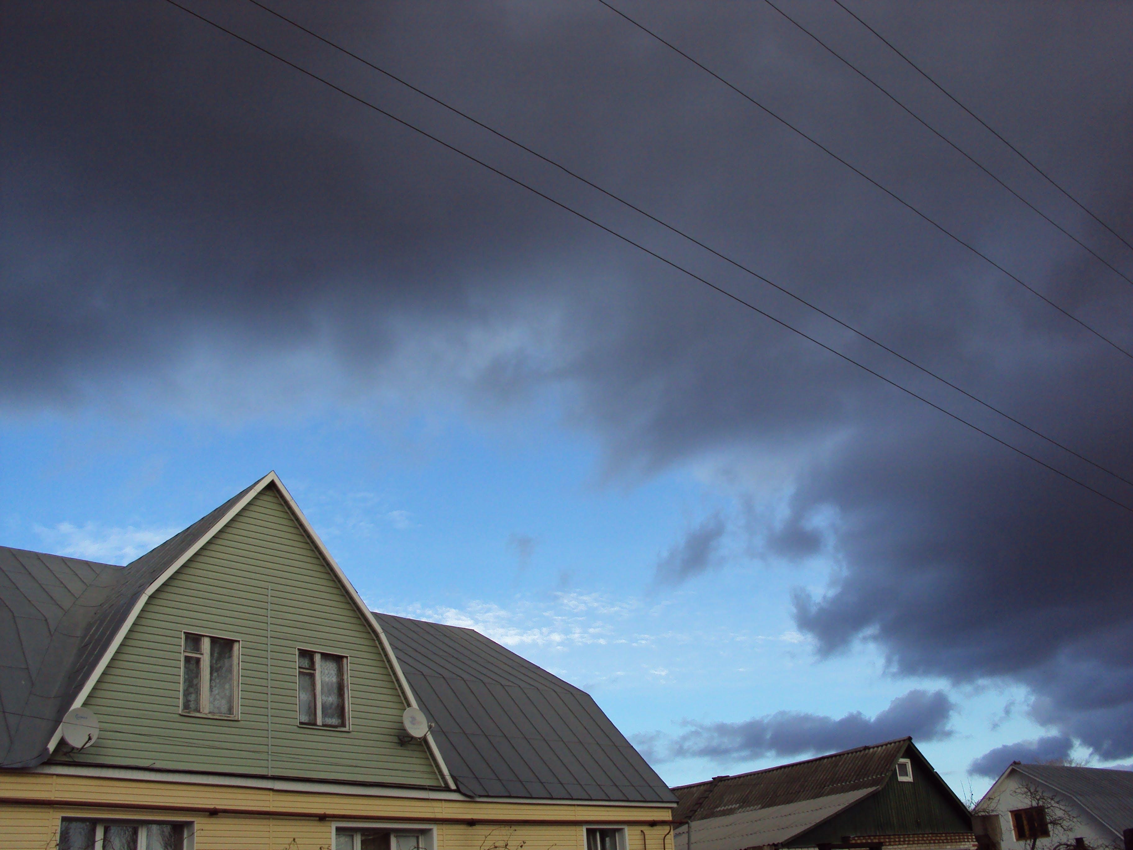 Foto stok gratis atap, awan