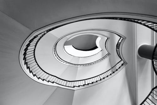Free stock photo of black and white, staircase, stairs