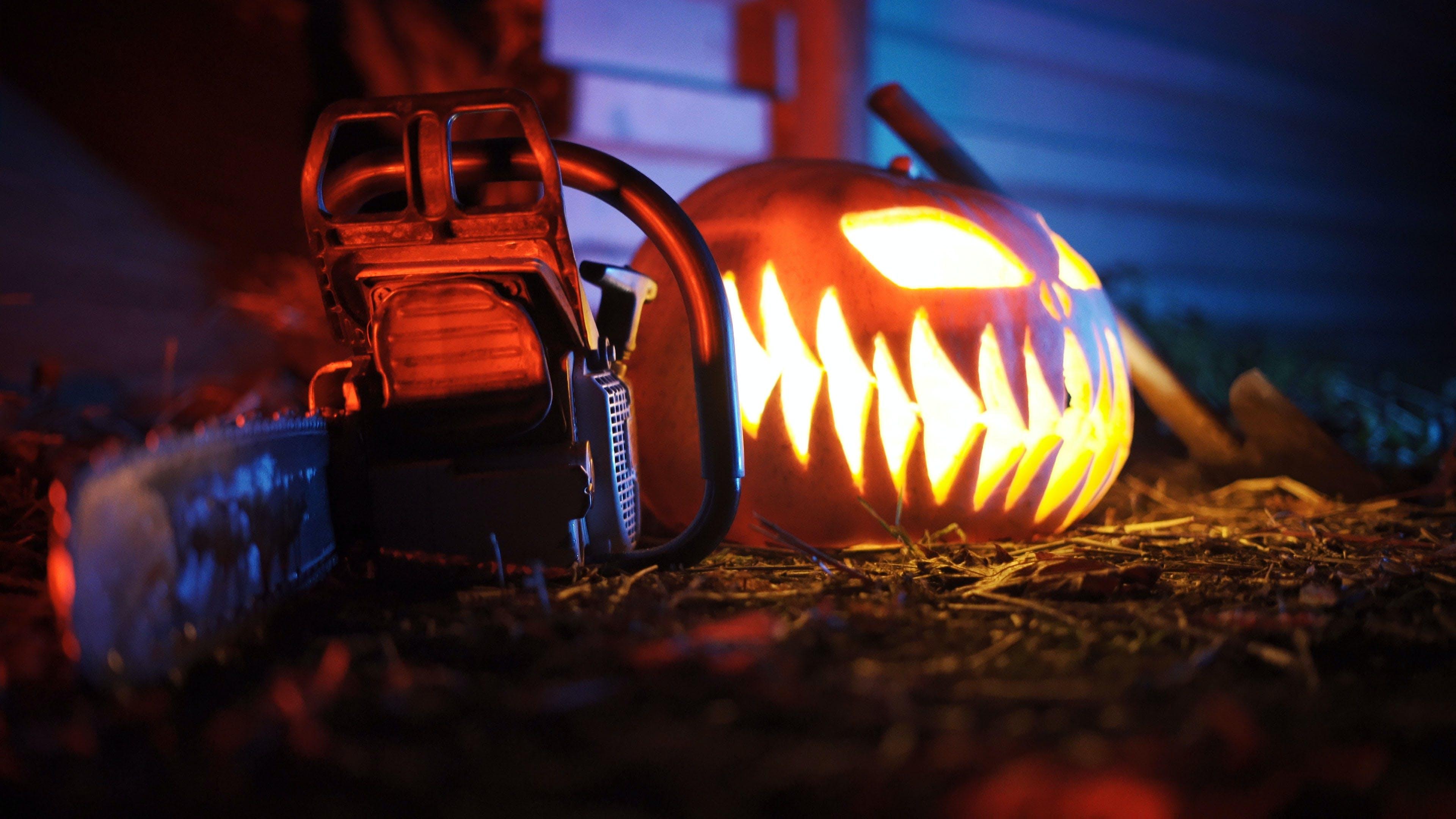 Free stock photo of axe, chainsaw, halloween, halloween pumpkin