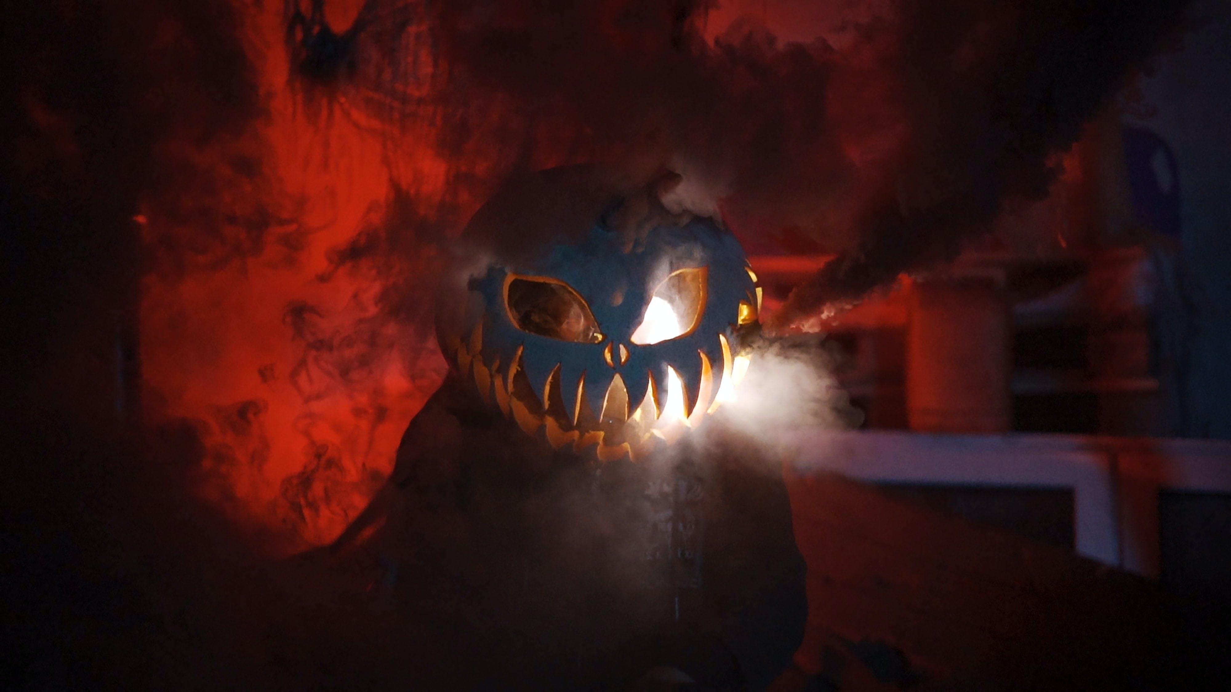 Free stock photo of chainsaw, halloween, horror, pumpkin